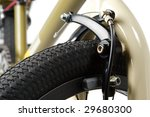 bicycle parts on a white...   Shutterstock . vector #29680300