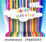 vector illustration of a happy... | Shutterstock .eps vector #296803055