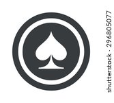 image of spades card symbol in...