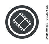 image of film strip in circle ... | Shutterstock .eps vector #296805131