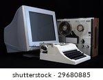 White Mechanical Typewriter ...