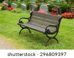Empty Old Wooden Bench In...