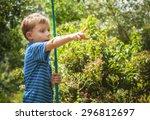 outdoor portrait of happy... | Shutterstock . vector #296812697