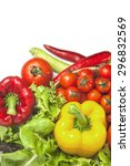 mixed collection of fresh... | Shutterstock . vector #296832569
