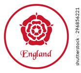 Stock vector england emblem with the tudor rose 296856221