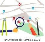 map and navigation map | Shutterstock .eps vector #296861171