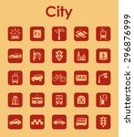 it is a set of city simple web... | Shutterstock .eps vector #296876999