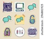 hand drawn web emblems set....   Shutterstock .eps vector #296881925