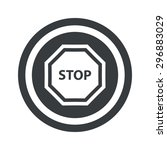 image of stop sign in circle ...