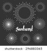 vintage sunburst collection....   Shutterstock .eps vector #296883365