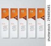 design clean number banners... | Shutterstock .eps vector #296885681