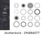 set of vintage sunbursts.... | Shutterstock .eps vector #296886077
