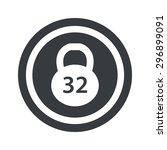image of 32 kg dumbbell in... | Shutterstock .eps vector #296899091