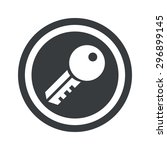 image of key in circle  on... | Shutterstock .eps vector #296899145