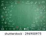 doodle freehand chalk drawing... | Shutterstock . vector #296900975