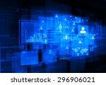 business networking digital...   Shutterstock . vector #296906021