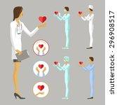 medic woman | Shutterstock .eps vector #296908517