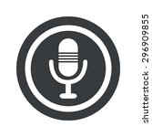image of microphone in circle ...