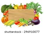 A Wooden Vegetables Sign...