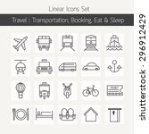 transportation and booking ... | Shutterstock .eps vector #296912429