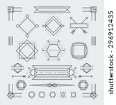 linear geometric labels and... | Shutterstock .eps vector #296912435