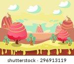 Cartoon Fairy Tale Landscape....