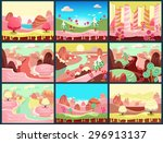 cartoon fairy tale landscape.... | Shutterstock .eps vector #296913137