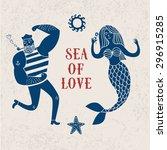 Sea Cartoon Illustration With...
