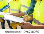industry  building  paperwork... | Shutterstock . vector #296918075