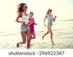 summer vacation  holidays ... | Shutterstock . vector #296922347