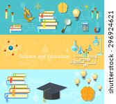 science and education training... | Shutterstock .eps vector #296924621