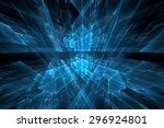 abstract science or technology... | Shutterstock . vector #296924801