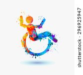 happy disabled people. life... | Shutterstock .eps vector #296925947