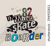 vintage skateboard label   t... | Shutterstock .eps vector #296932811