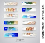 business design templates. set... | Shutterstock .eps vector #296938121