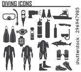 diving icon vector illustration. | Shutterstock .eps vector #296947985