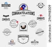 congratulation badges cards and ... | Shutterstock .eps vector #296948309