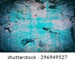 texture of shabby paint and... | Shutterstock . vector #296949527