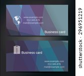 stylish business cards with... | Shutterstock .eps vector #296951219