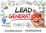 lead generation concept... | Shutterstock . vector #296960444