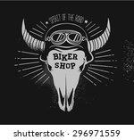 vector logo biker shop