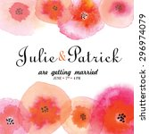 wedding invitation template...   Shutterstock .eps vector #296974079