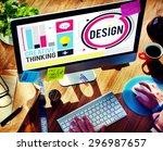 design creativity thinking... | Shutterstock . vector #296987657