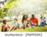students friendship team... | Shutterstock . vector #296993441