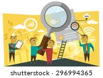 business planning illustration | Shutterstock .eps vector #296994365