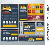 set of stationery design... | Shutterstock .eps vector #297001835