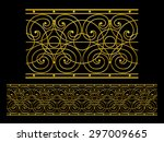 golden  ornamental segment for... | Shutterstock . vector #297009665
