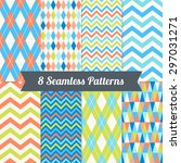 set of seamless patterns with... | Shutterstock .eps vector #297031271
