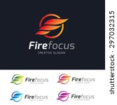 fire logo template. burn bio... | Shutterstock .eps vector #297032315