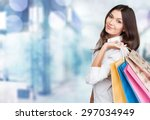 shopping  retail  bags. | Shutterstock . vector #297034949